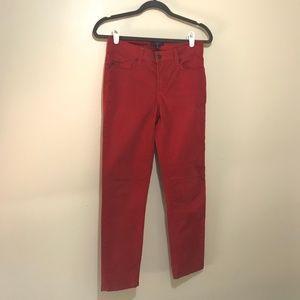 NYDJ Red Straight Leg Jean - Size 0
